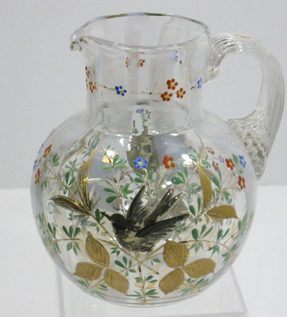 Magnificent opalescent glass pitcher - 3