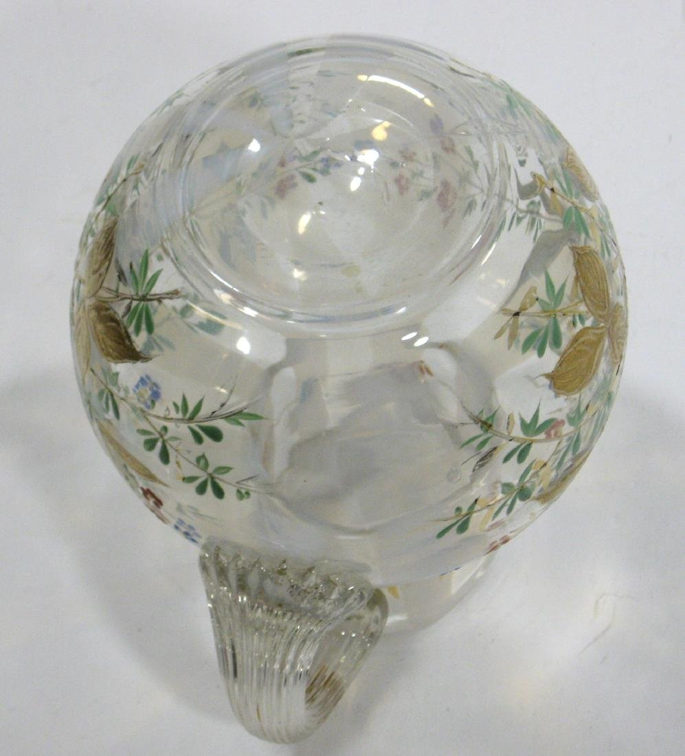 Magnificent opalescent glass pitcher - 4