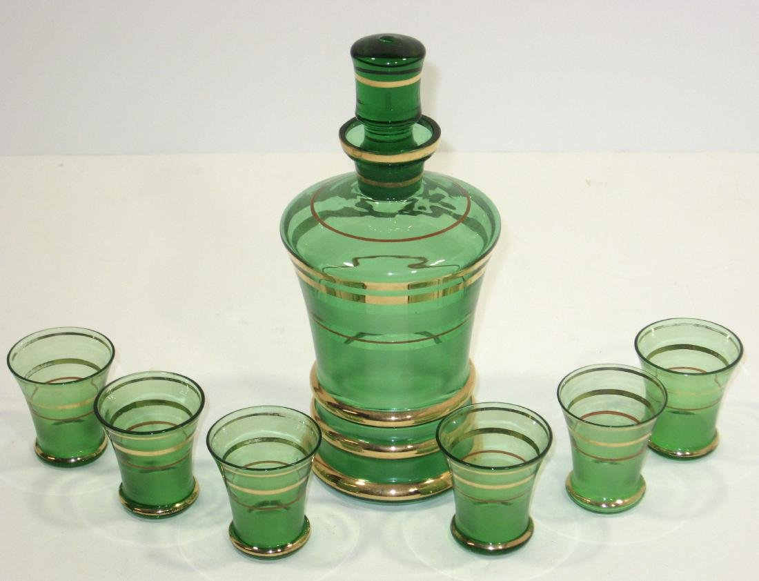 Group of glass bar and drinking items - 3