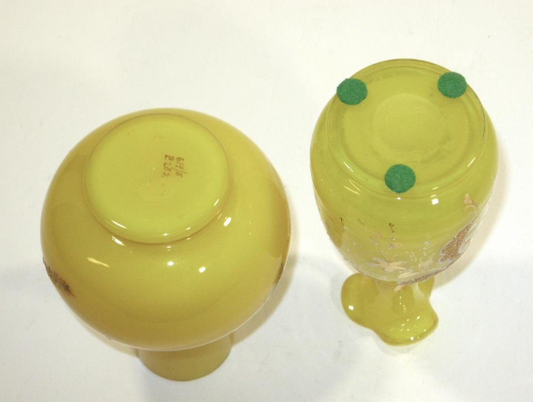 Two Victorian opaline glass items, - 4
