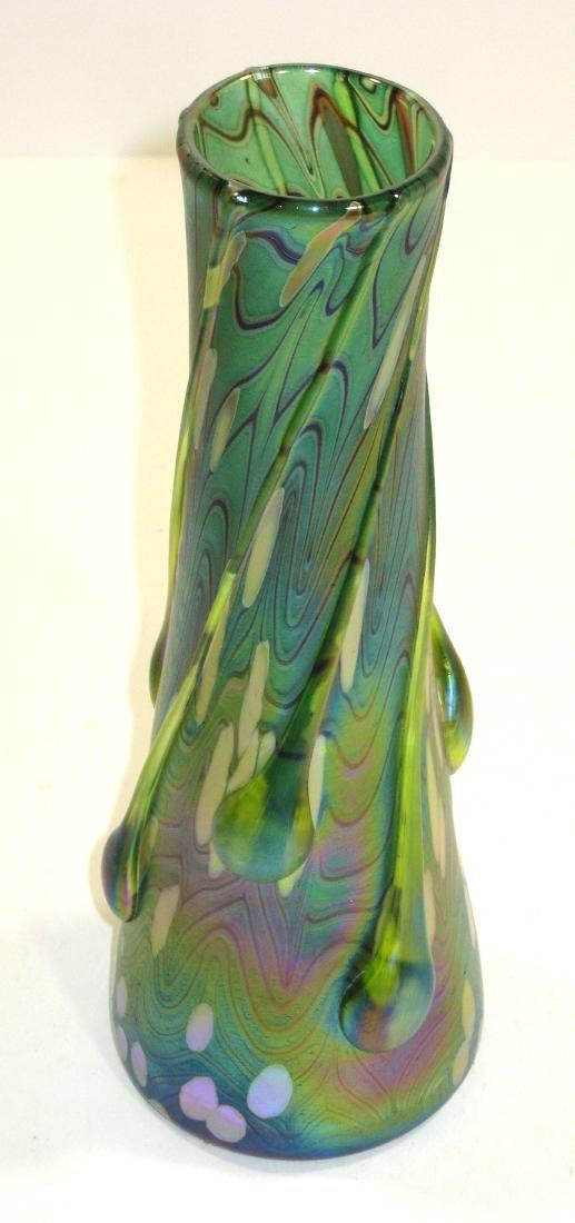 Czech applied art glass vase, - 3