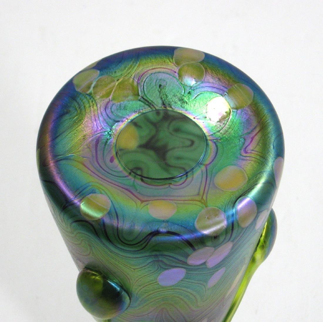 Czech applied art glass vase, - 4