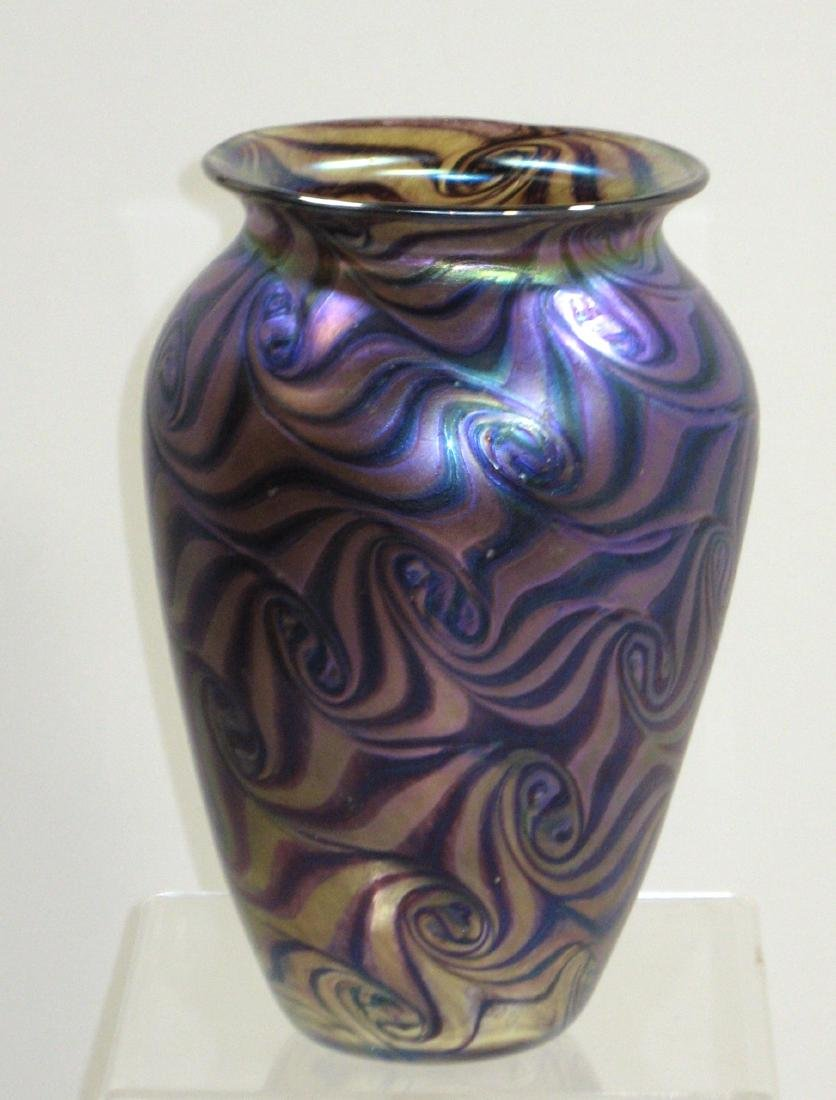 Contemporary Czech glass vase,