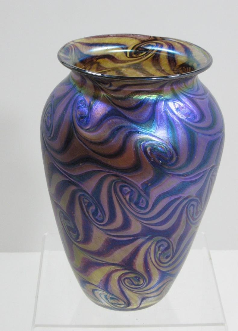 Contemporary Czech glass vase, - 2