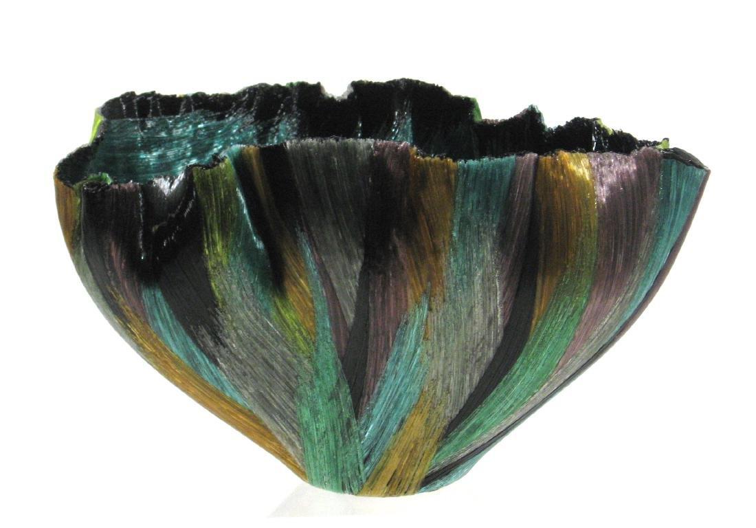 Toots Zynsky Art Glass bowl - 2