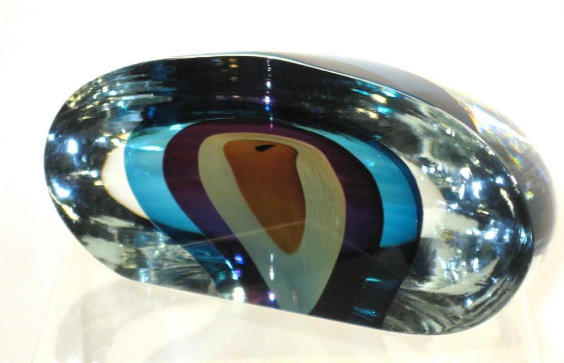 Harvey Littleton art glass sculpture, - 2