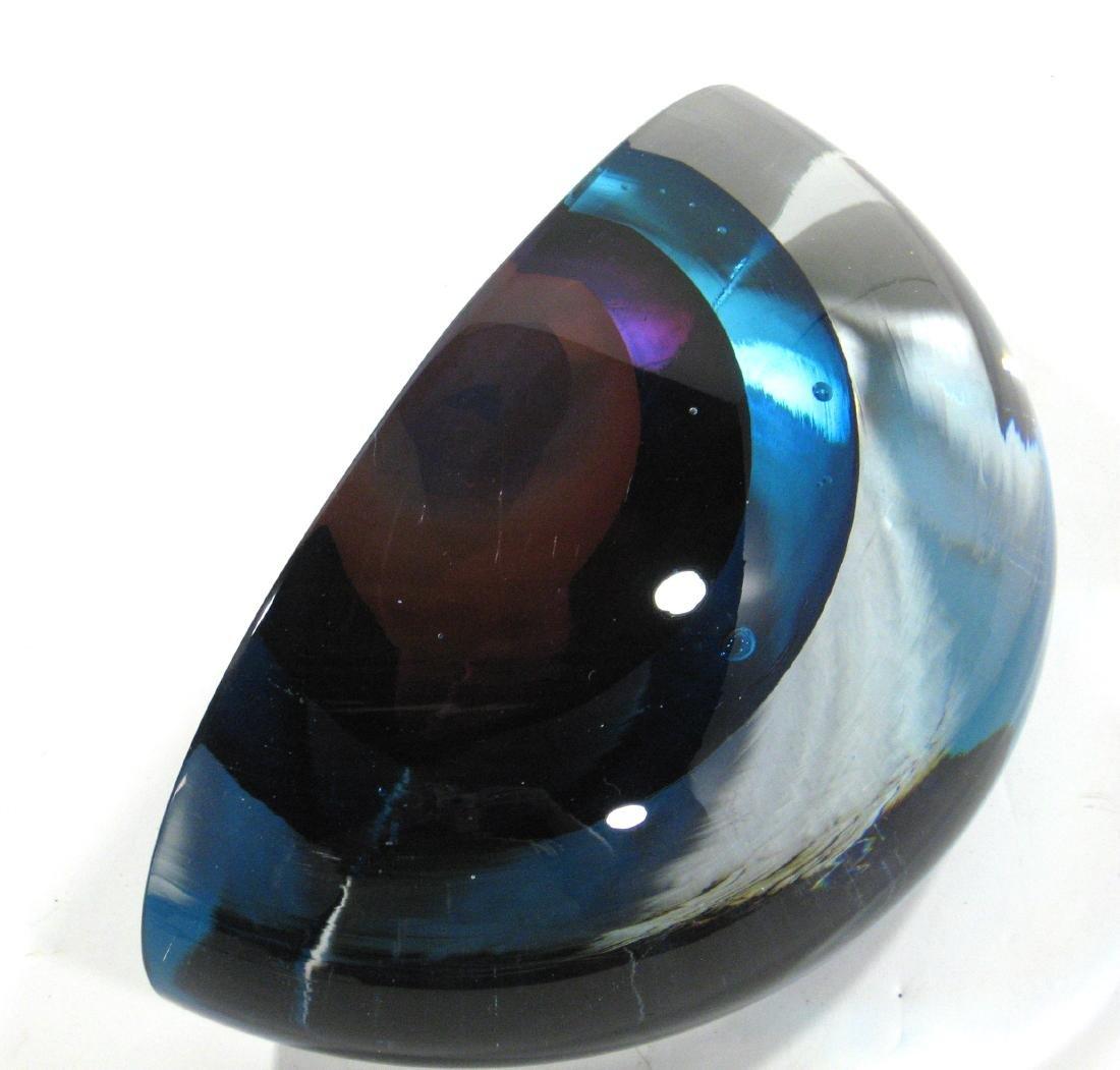 Harvey Littleton art glass sculpture, - 3