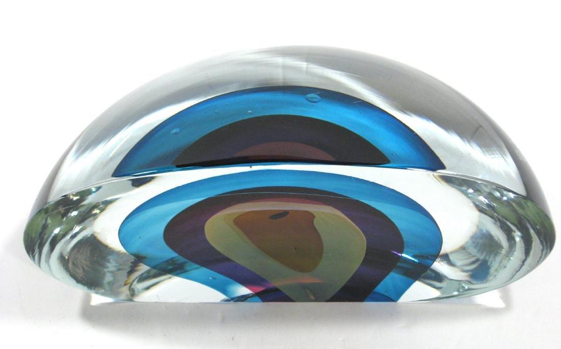 Harvey Littleton art glass sculpture, - 6