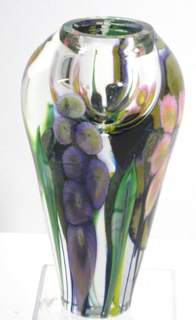 David Lotton optic crystal vase