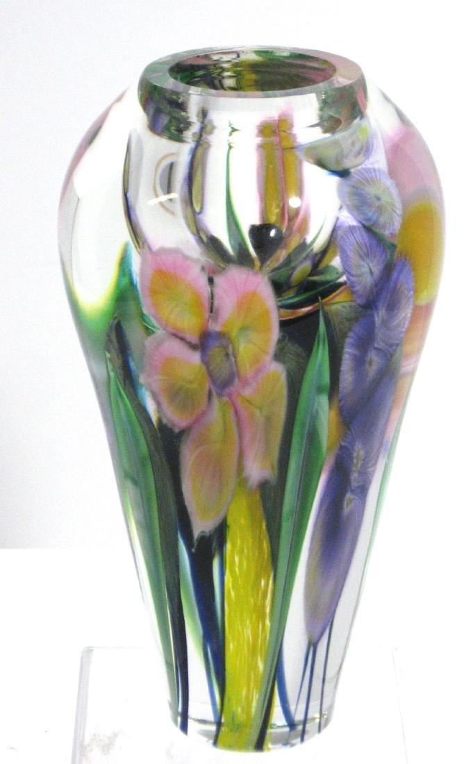 David Lotton optic crystal vase - 2