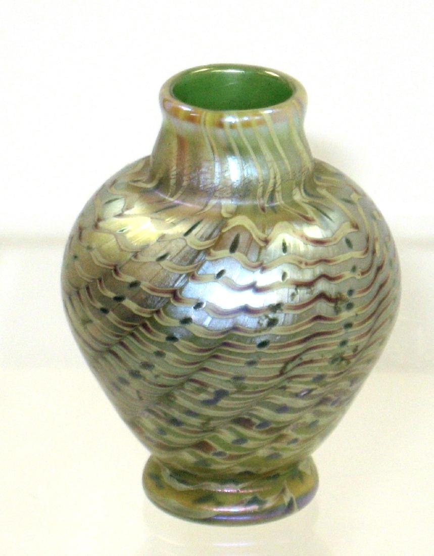 Lundberg cabinet glass vase,