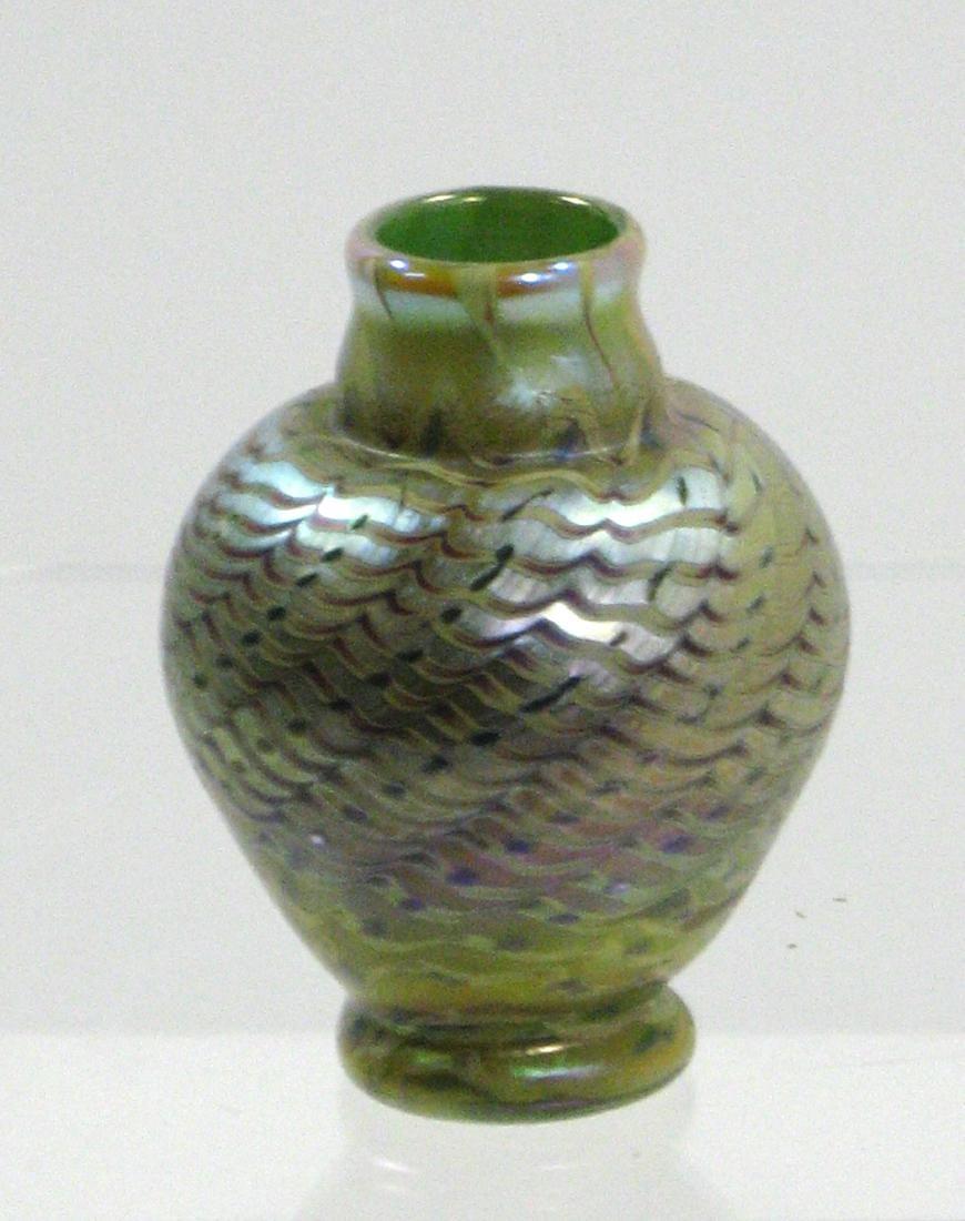 Lundberg cabinet glass vase, - 4