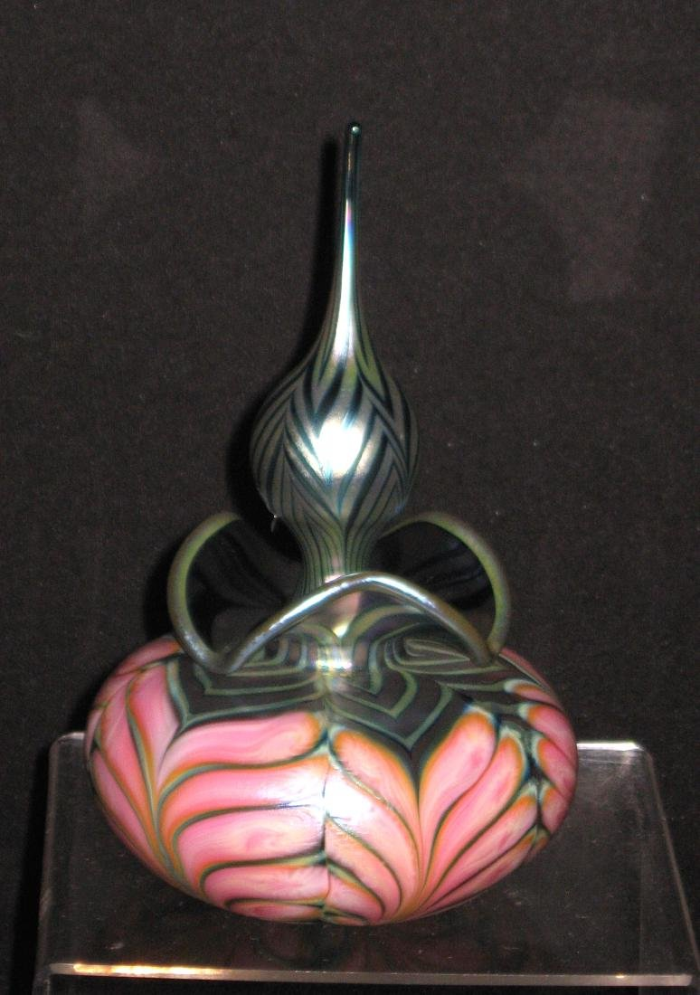 Daniel Lotton glass perfume bottle,