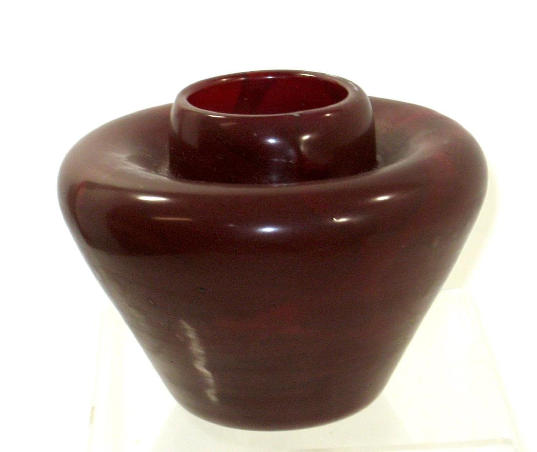 Contemporary Agate glass vase,