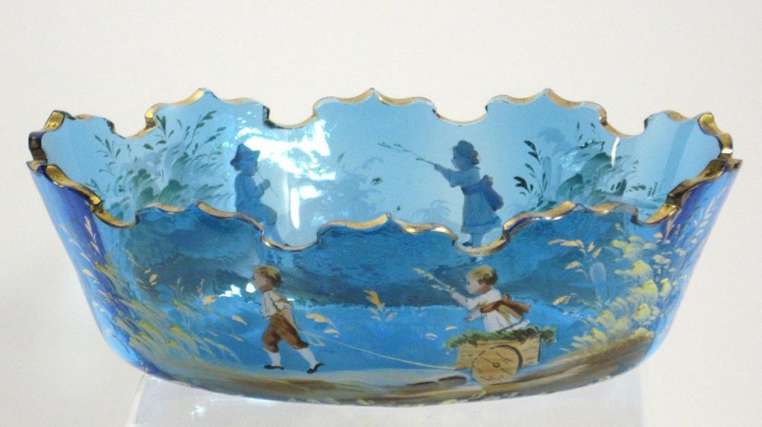 Lobmeyr Prussian blue glass bowl