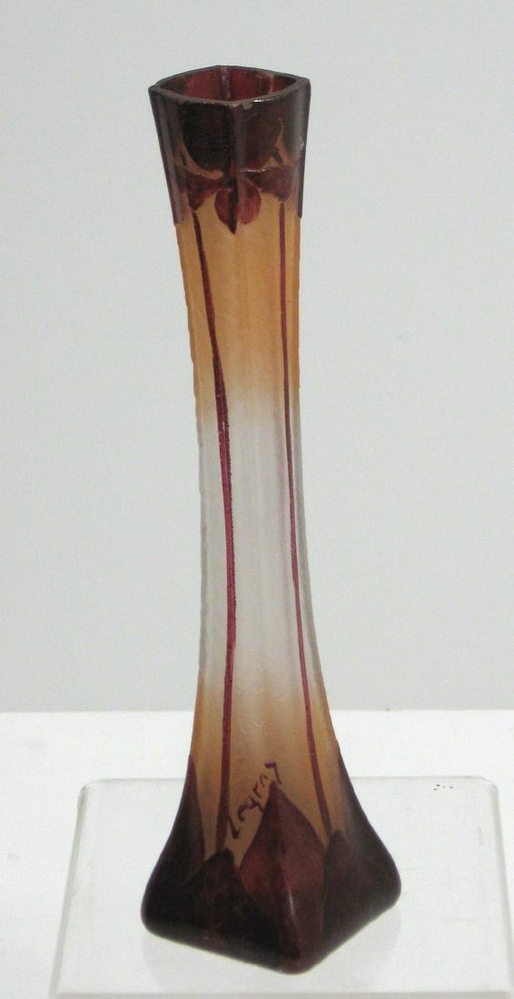 Legras French cameo glass vase,