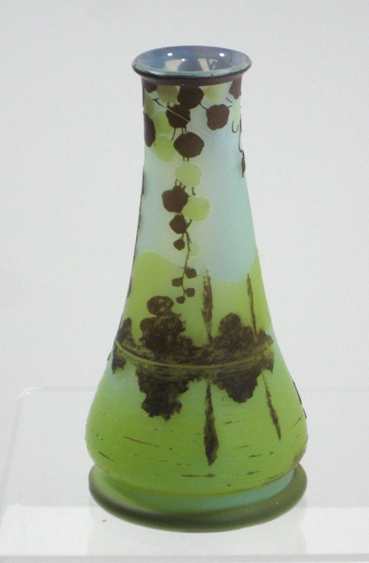Devez French cameo glass vase, - 2