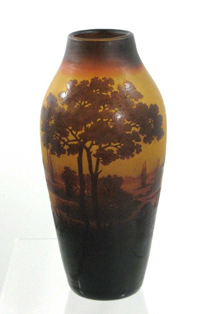 D Argental French cameo vase,