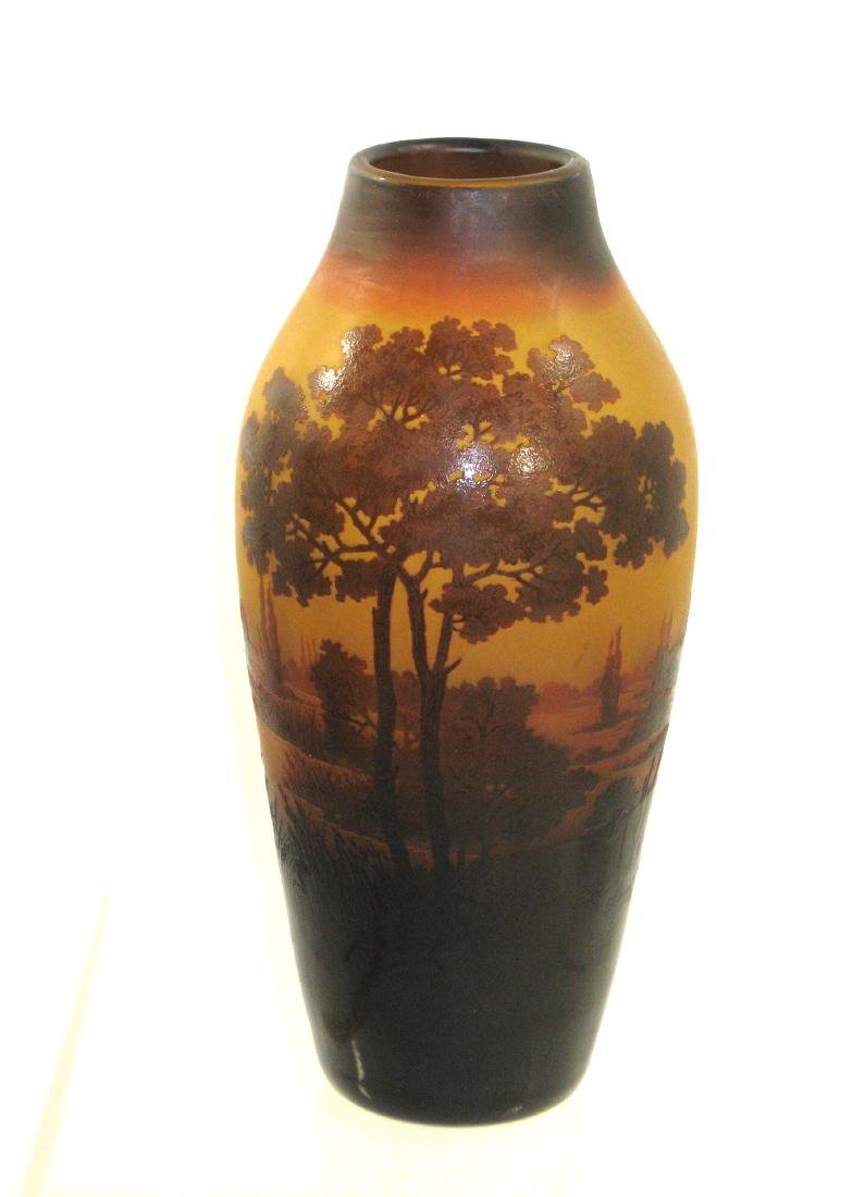D Argental French cameo vase, - 2