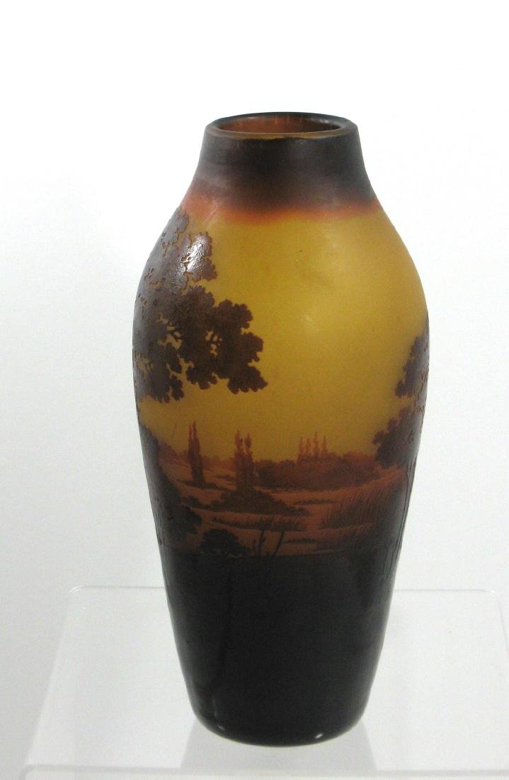 D Argental French cameo vase, - 3