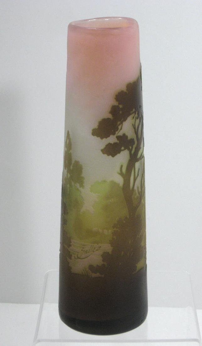 Galle French cameo glass vase, - 2