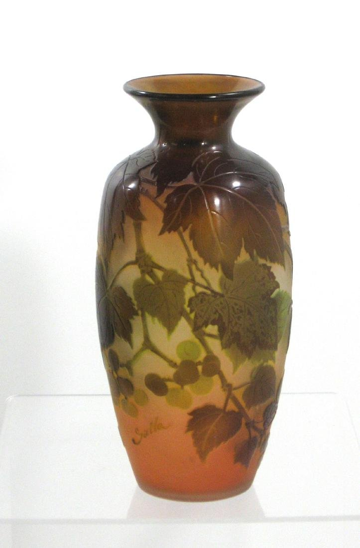 Galle French cameo glass vase,