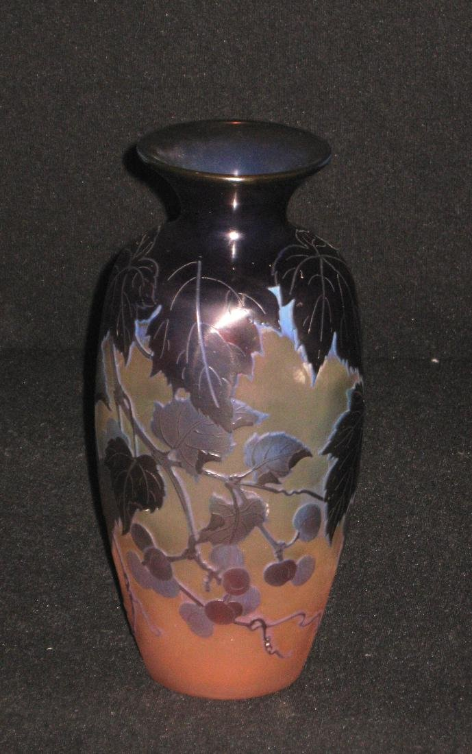 Galle French cameo glass vase, - 6