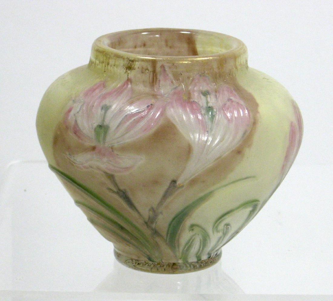 Burgun Schevere Cameo glass vase