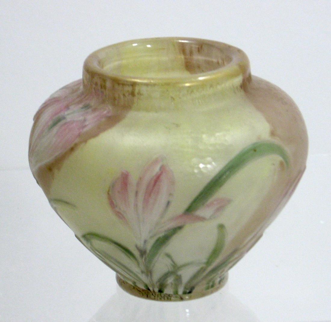 Burgun Schevere Cameo glass vase - 2