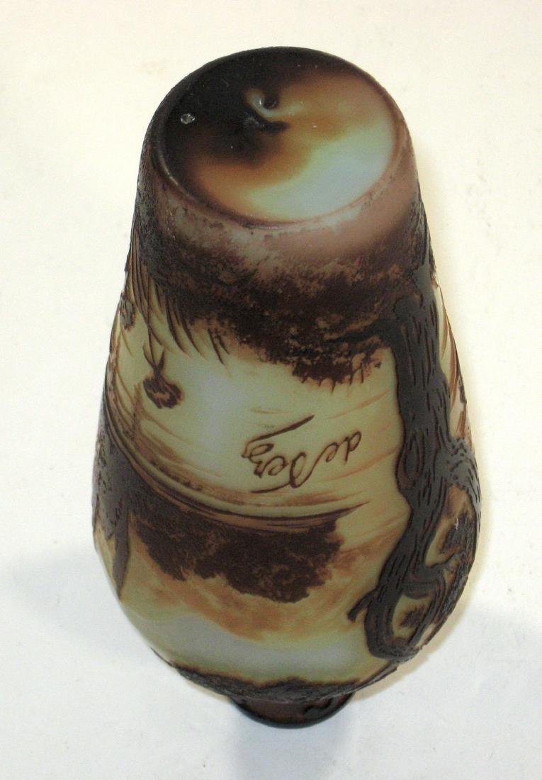 Devez French cameo glass vase, - 3