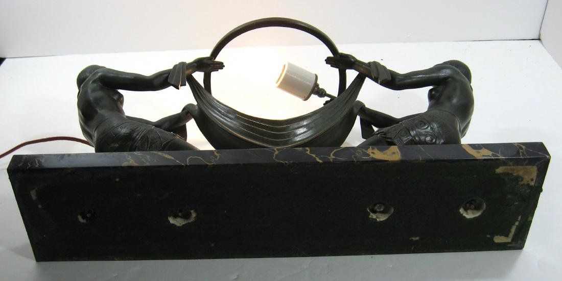 Fayral French Art Nouveau lamp, - 8
