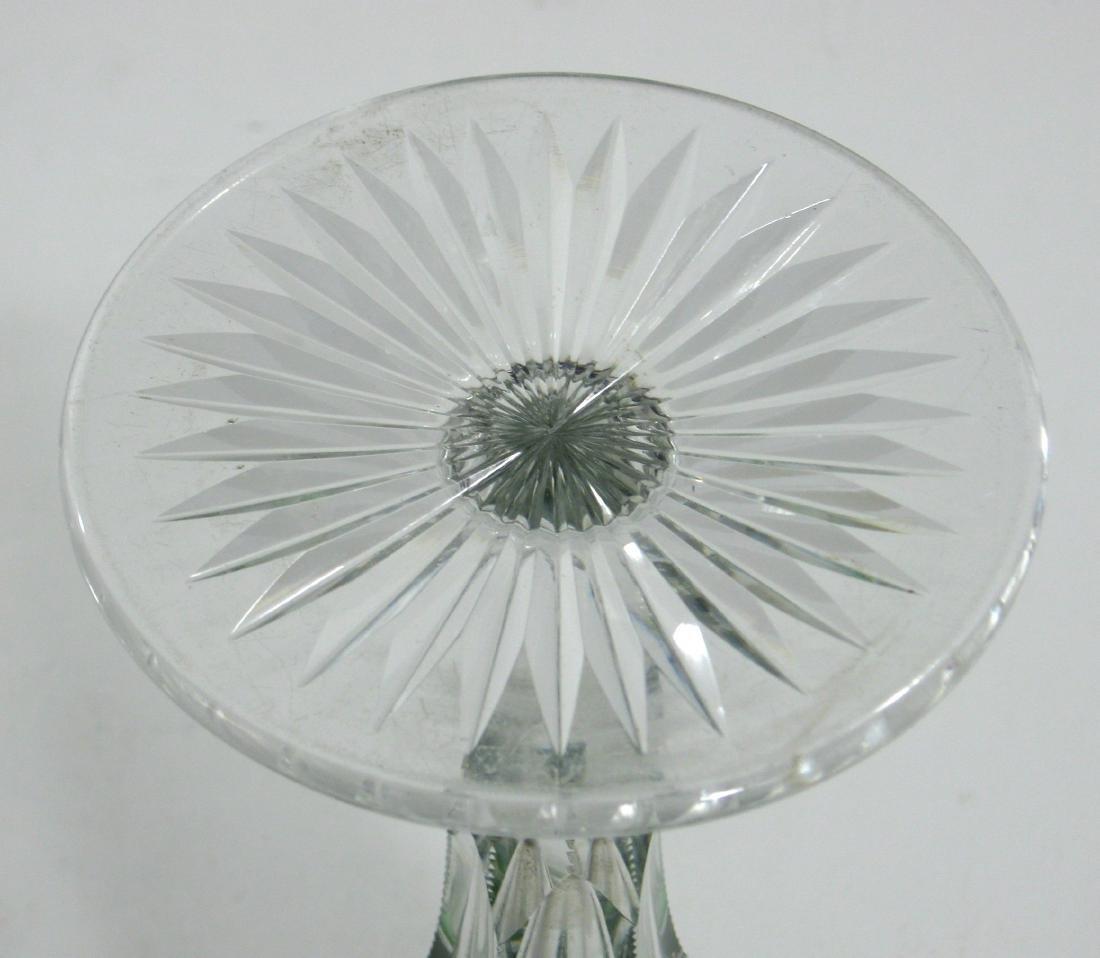 Dorflinger green cut to clear vase, - 3