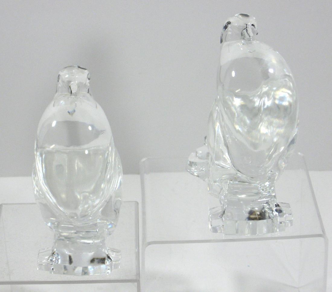 Pair of Steuben glass pigeons, - 2