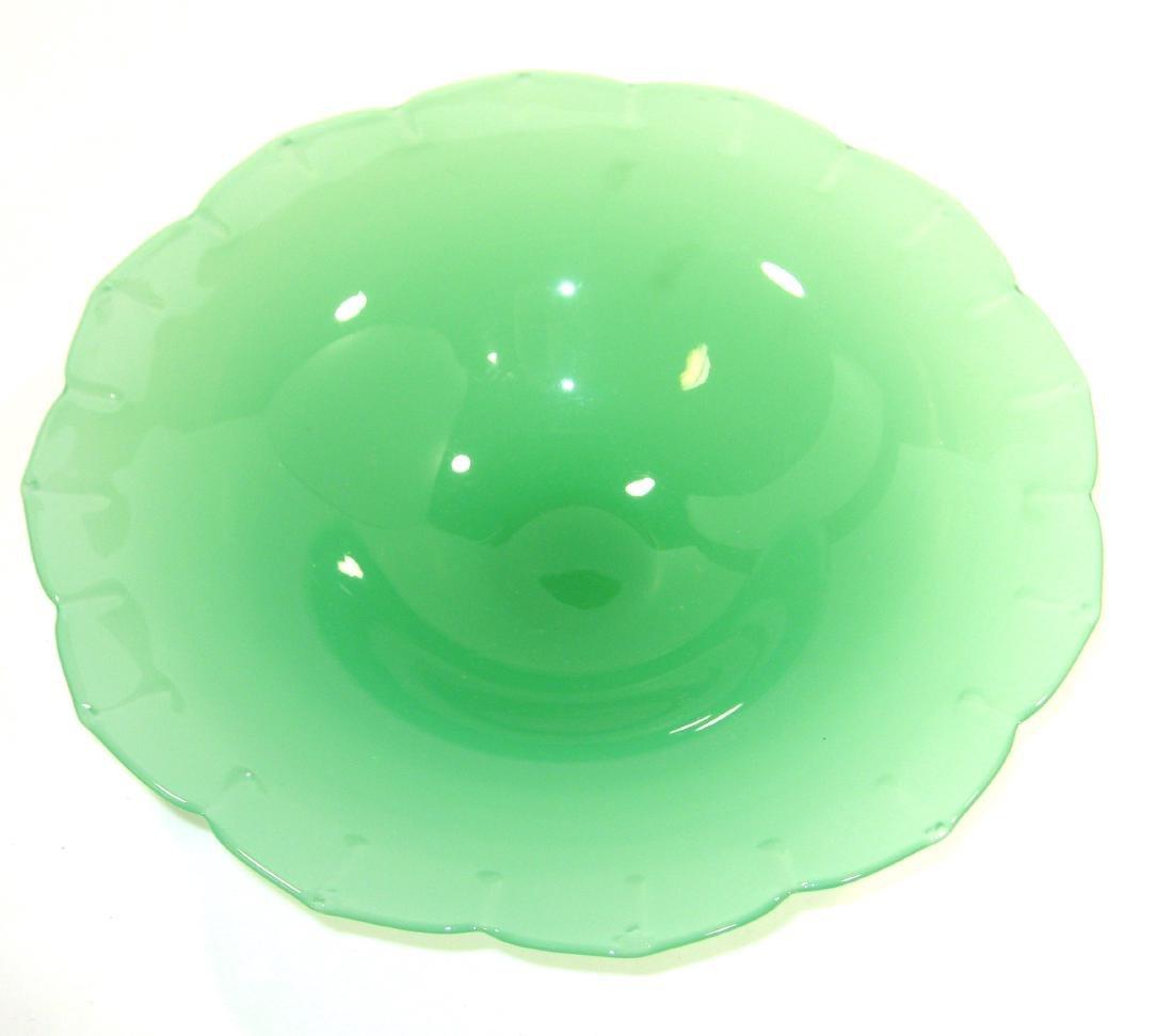 Steuben green jade center bowl - 2