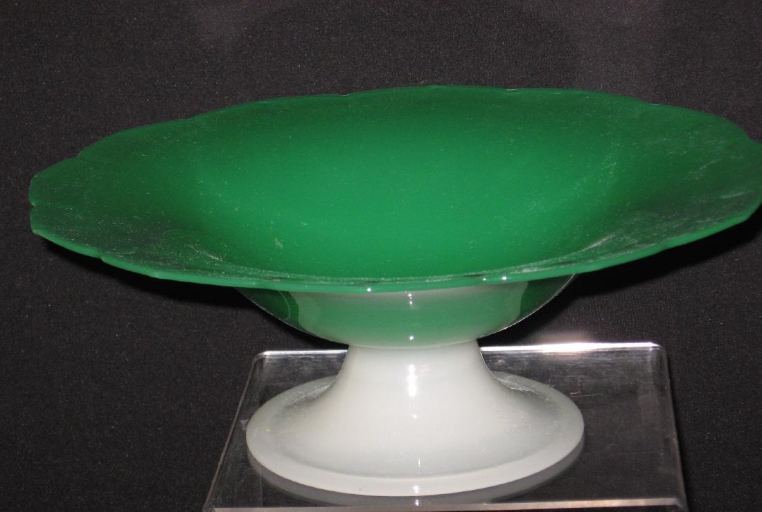 Steuben green jade center bowl - 4