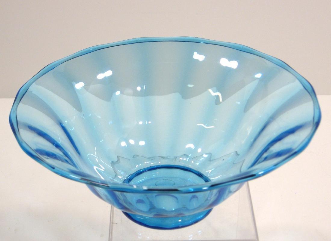 Steuben Celeste blue bowl