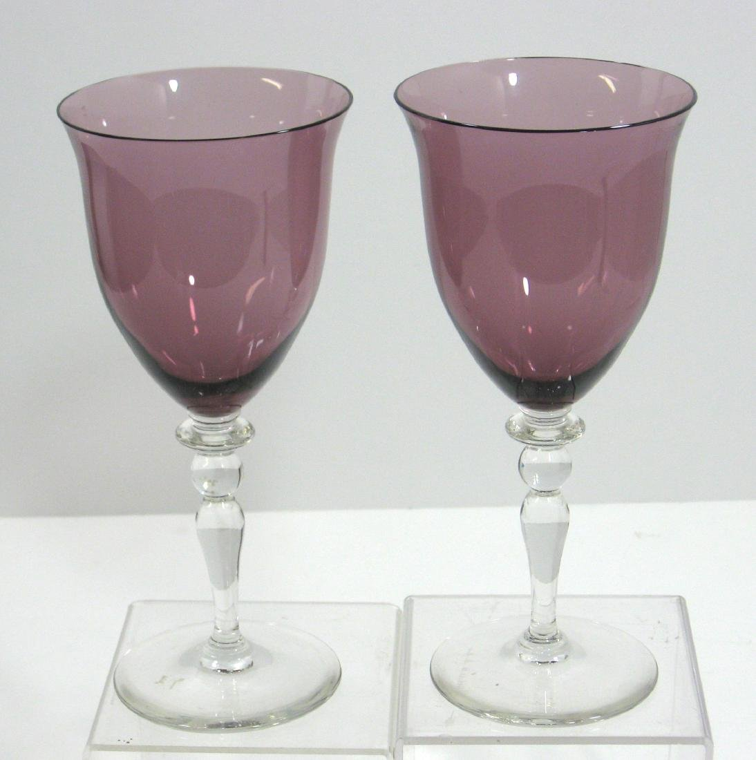 Two Steuben experimental goblets