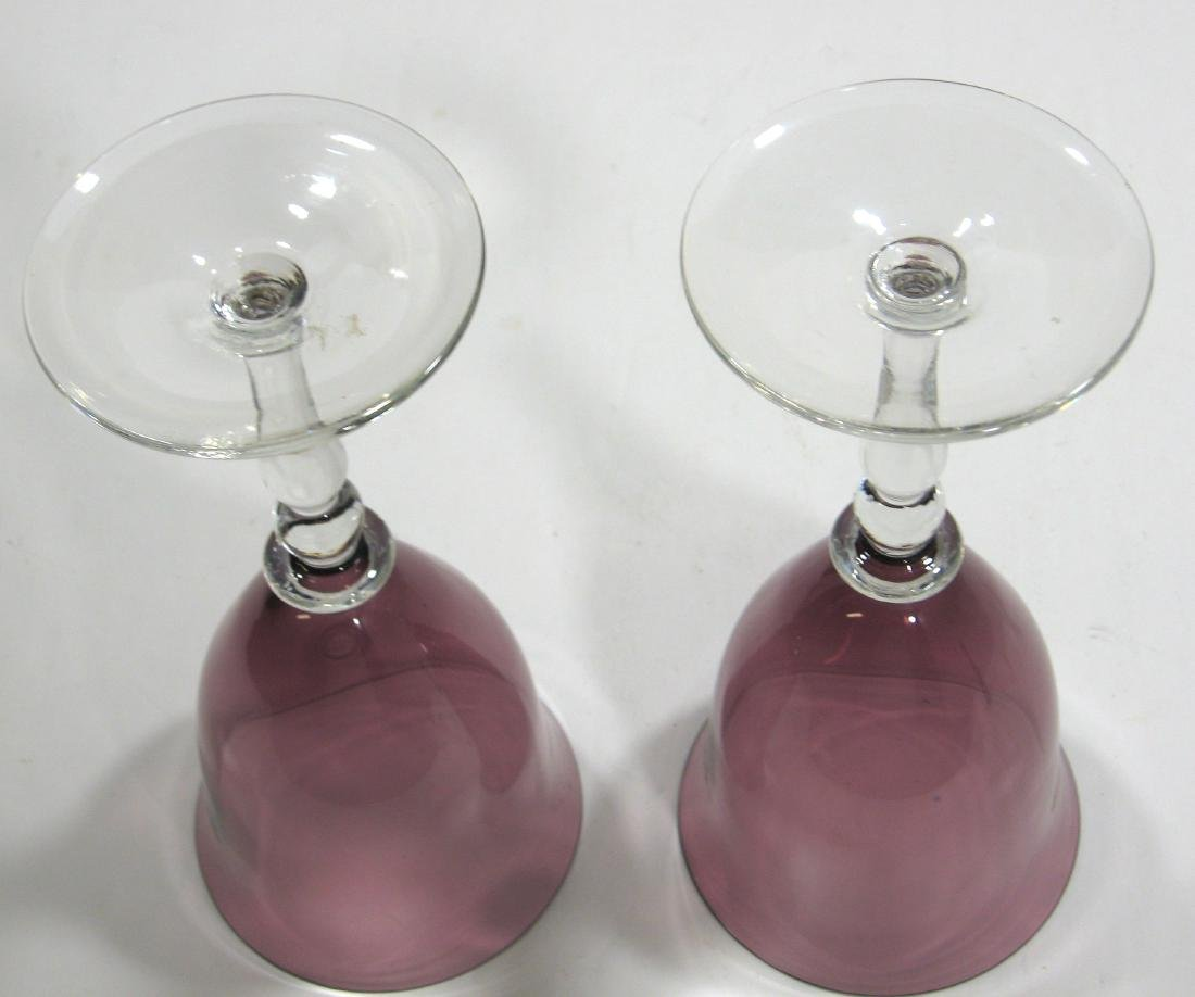 Two Steuben experimental goblets - 3