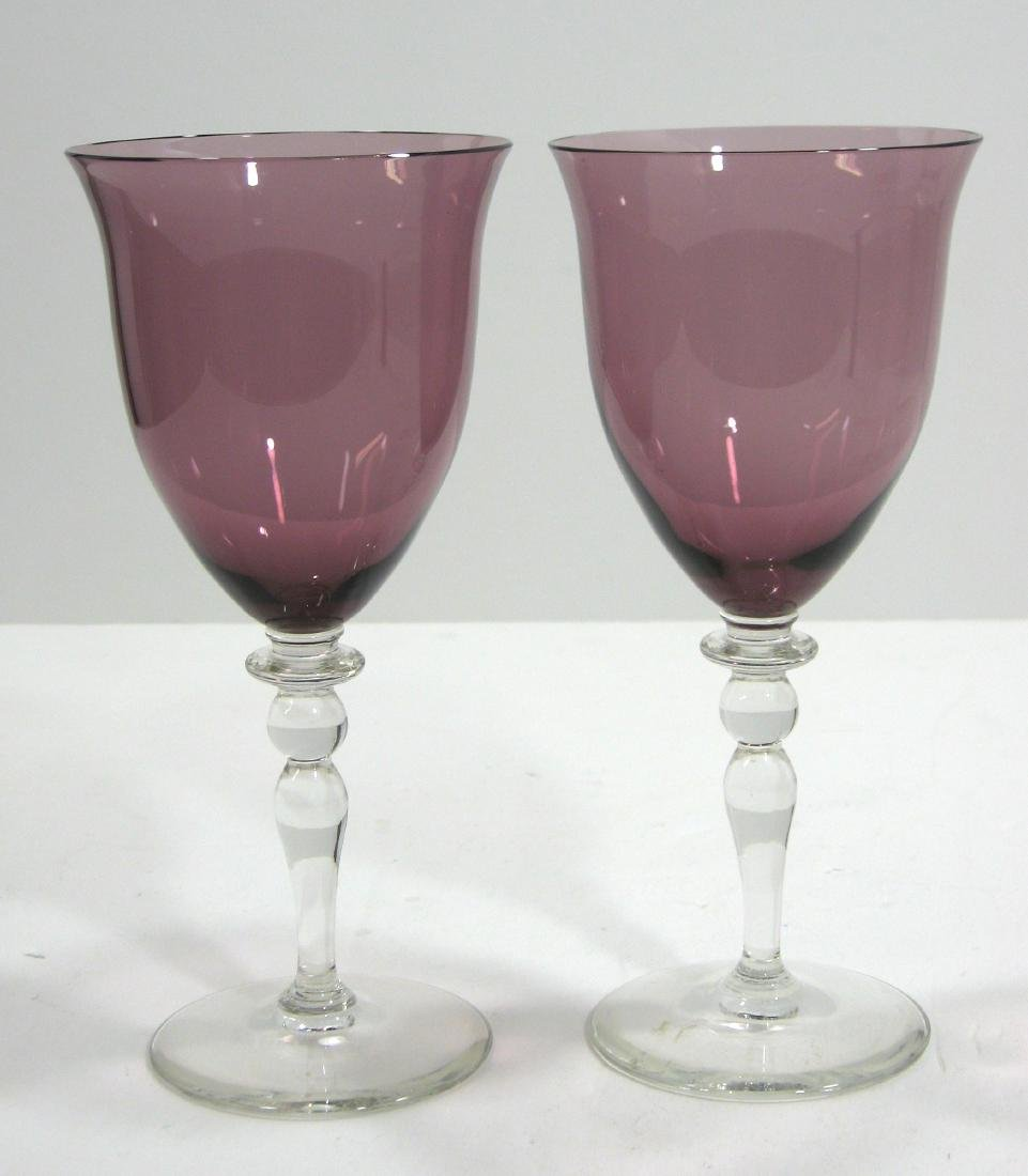Two Steuben experimental goblets - 4