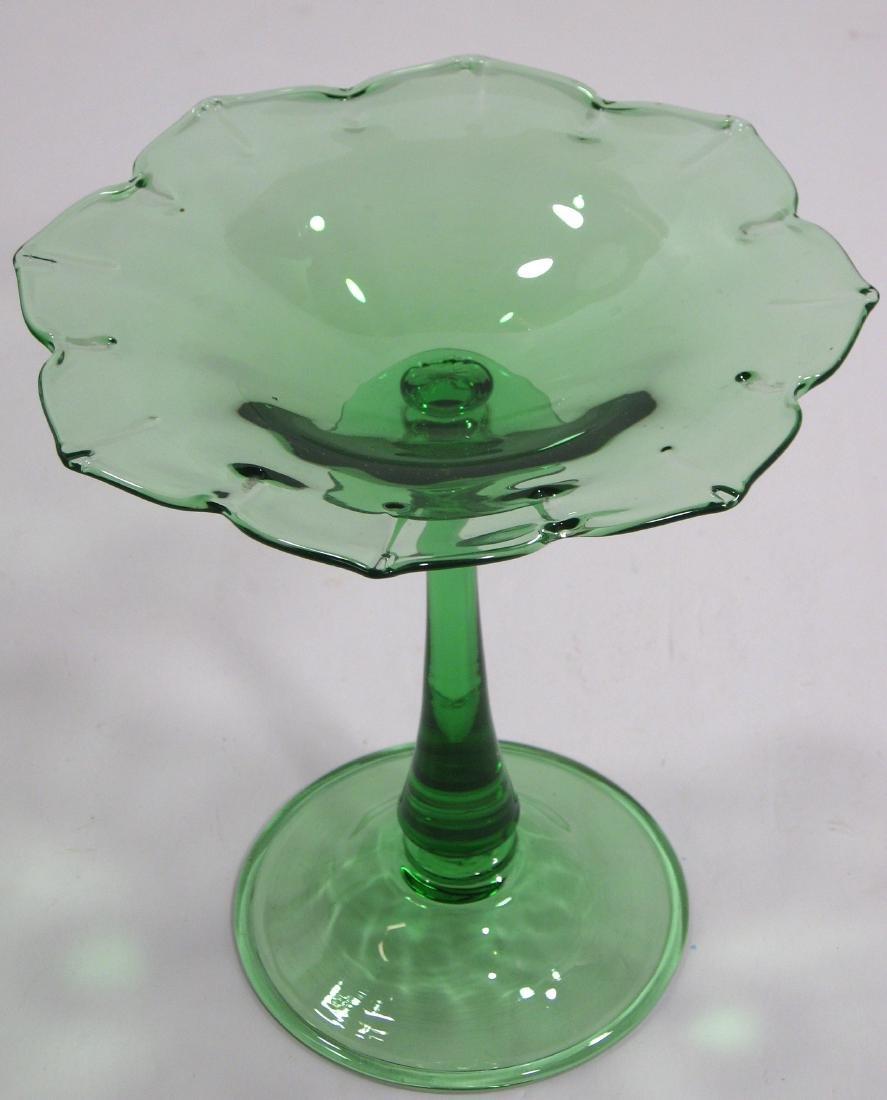 Steuben Pomona green compote - 2