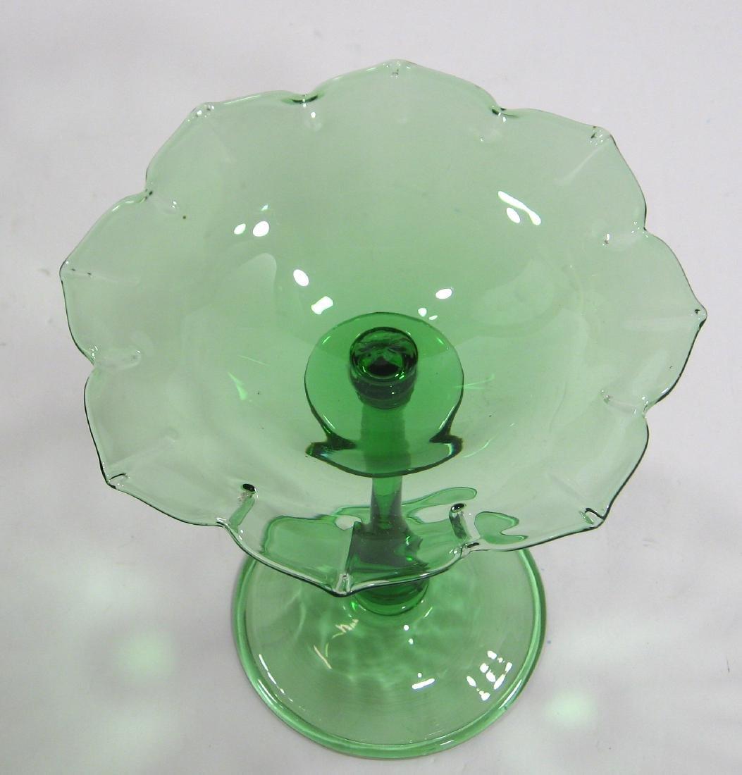 Steuben Pomona green compote - 3