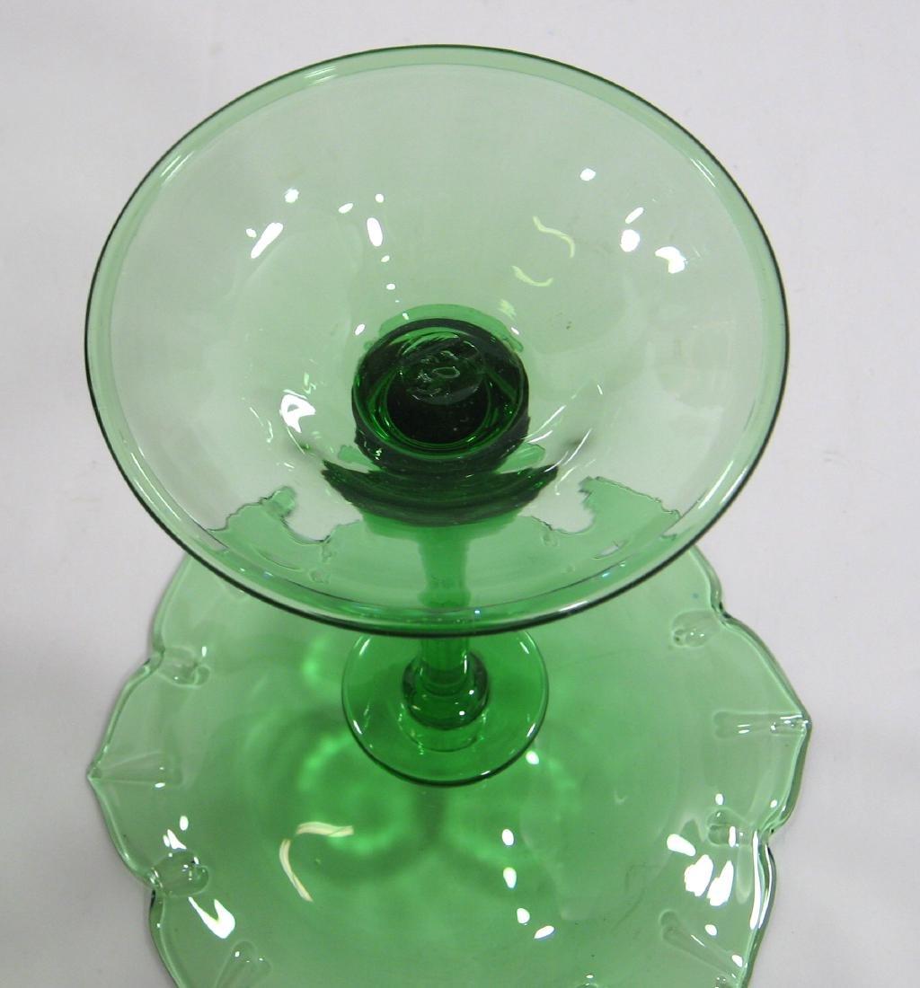 Steuben Pomona green compote - 4