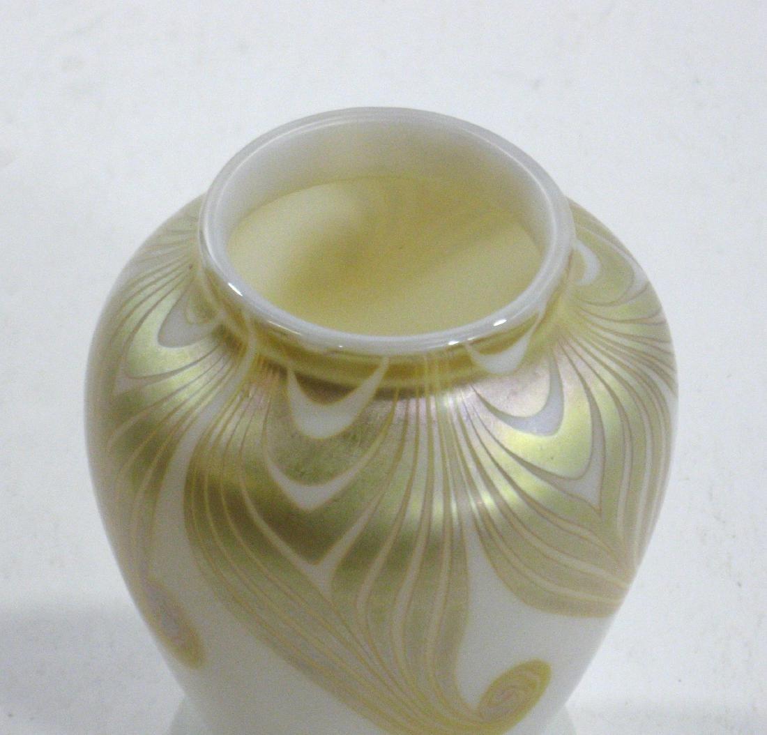 Steuben decorated Aurene vase, - 6
