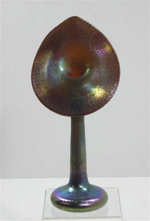 Steuben Jack In The Pulpit Glass Vase