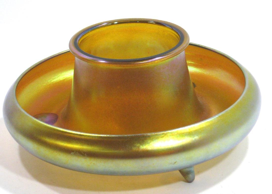 Steuben Gold Aurene shrimp bowl - 5