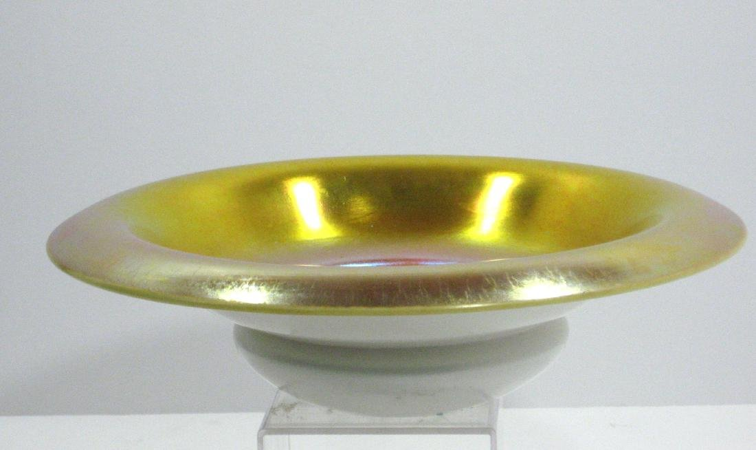Steuben gold on Calcite bowl