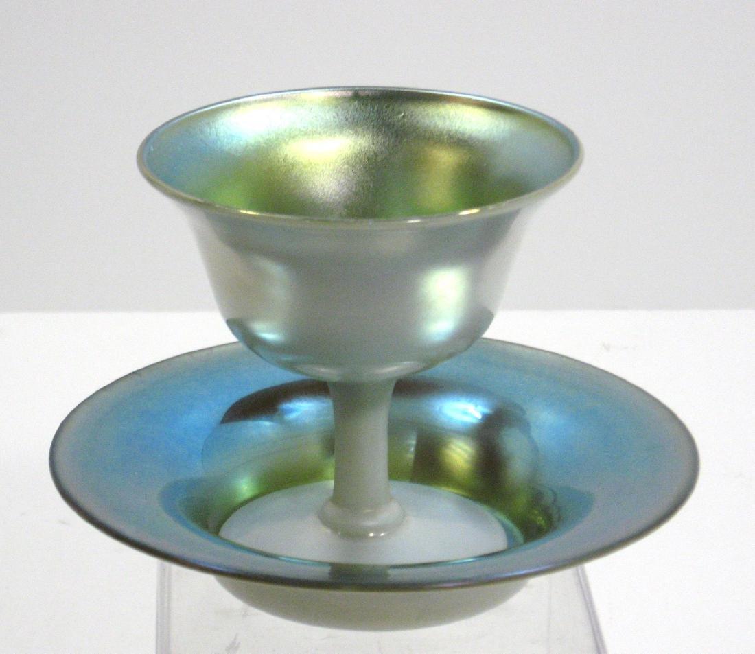 Steuben Blue on Calcite sherbet