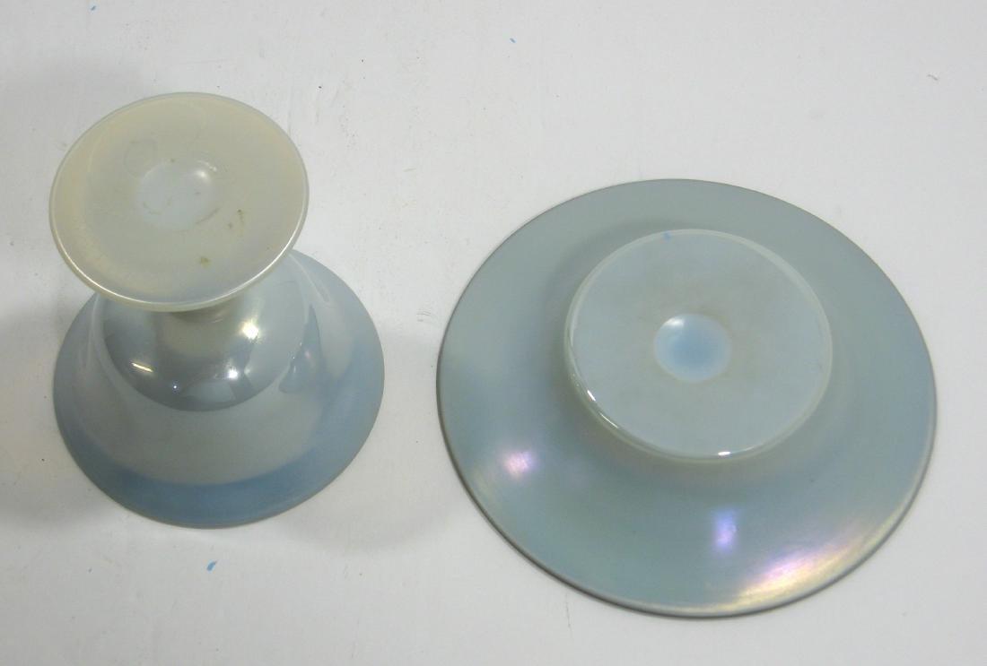 Steuben Blue on Calcite sherbet - 3