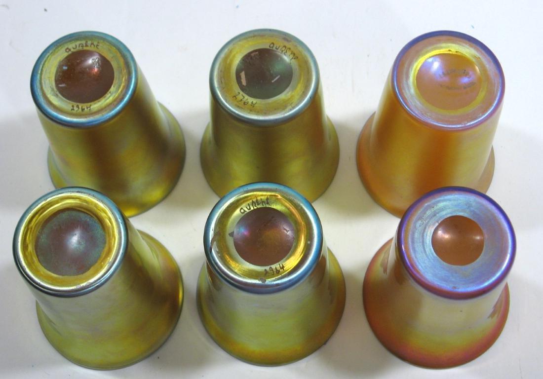 Six Steuben gold Aurene tumblers - 3