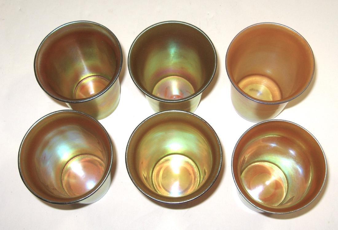 Six Steuben gold Aurene tumblers - 4